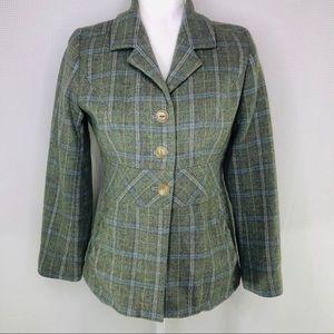 Pendleton 100% Virgin Wool Blazer Jacket Green 10